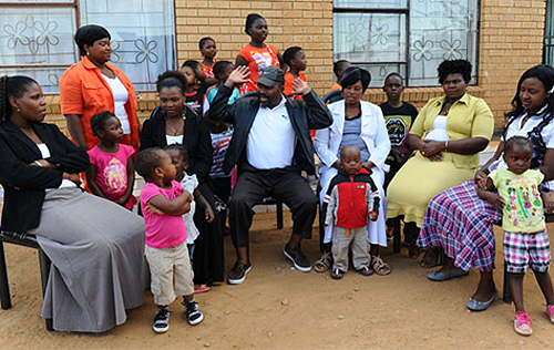 Polygamy is very common among traditional communities in many parts of Africa, as this family in South Africa.