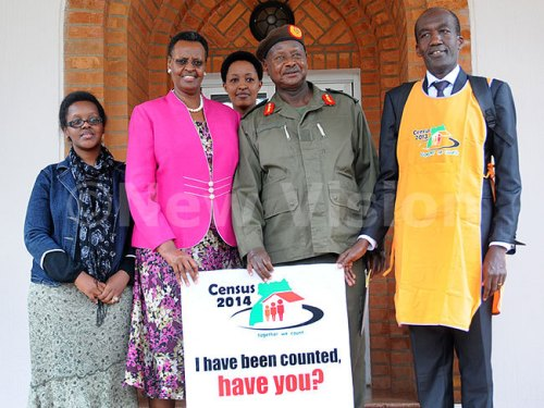 President Museveni, his wife Janet and two family members were enumerated at State House Nakasero.