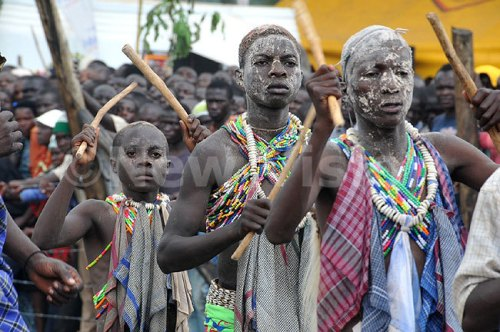 ome of the boys who were circumcised at the inauguration of Imbalu Festival 2014.