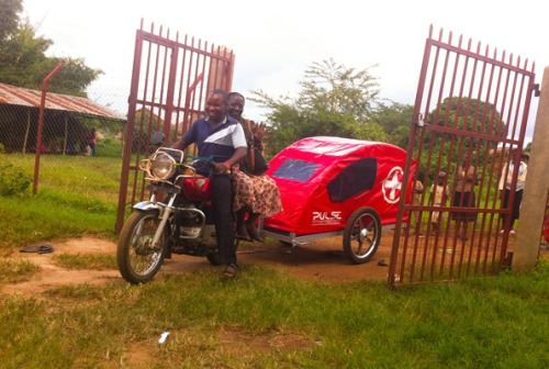 The ambulance bike fills the gap where conventional ambulances are missing.