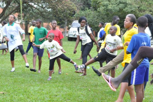 Children can keep active and fit by engaging in exercises such as physical education. Schools are crucial in facilitating such programmes. (Right), swimming is also a good workout activity for children. photo by Rachel Mabala  Children can keep active and fit