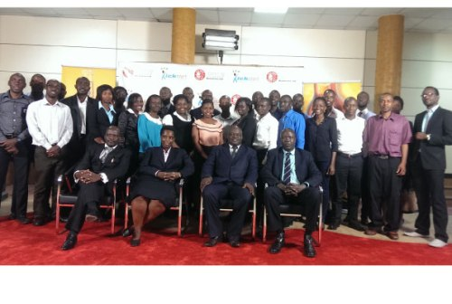 Members of Nile Breweries Ltd, Enterprise Uganda and some of the participants in the Kick Start programme.