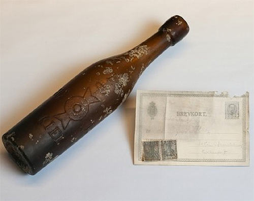 In April, a message in this bottle was tossed in the sea in Germany 101 years ago