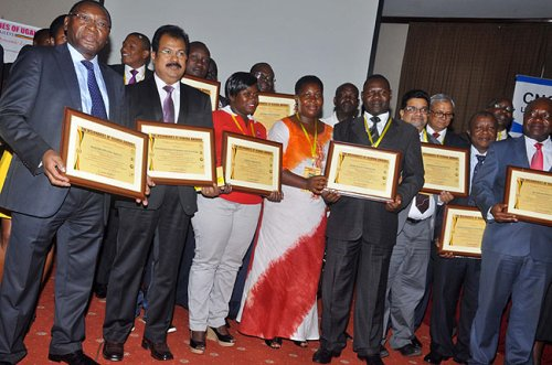 The heads of organisations that won awards.