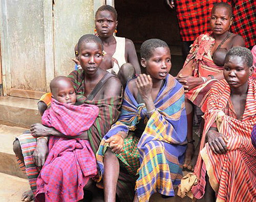 Some of the parents who were arrested over subjecting their children to FGM in Moroto district.