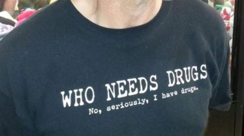 Sky News - Man In 'I Have Drugs' Shirt Held For Possession