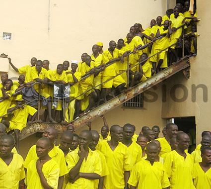 Inmates in Luzira's Upper Prison.