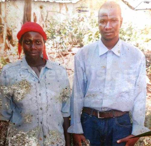 Sumayiya with the man who deserted her after the couple was blessed with five sets of twins