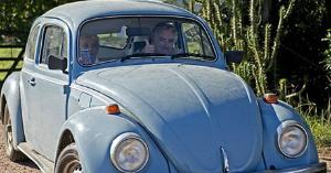 President Mujica and his wife are well-known for their humble lifestyle. Mujica once declared that his 1987 Volkswagen Beetle - a symbol of his famously austere lifestyle - was his only asset. AP Photo
