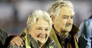 President Mujica - pictured here with his wife Sen. Lucia Topolansky, is thought to donate much of his $11,000-a-month salary to homeless charities. Courtesy Photo