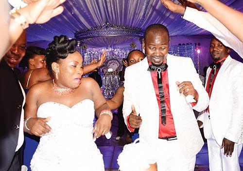 Singer Stacia Mayanja with her husband Mubiru on their wedding day.
