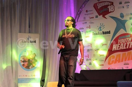 Ugandan Hip-hop artiste Navio performed during the youth camp