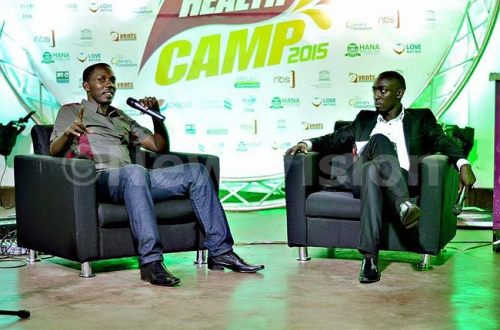 Comedian Kenneth Kimuli, popularly known as Pablo, spoke to the youth.