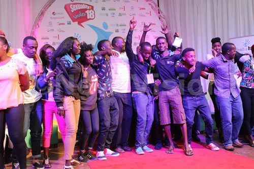 Winners of the schools drama competition at the youth camp jubilate.