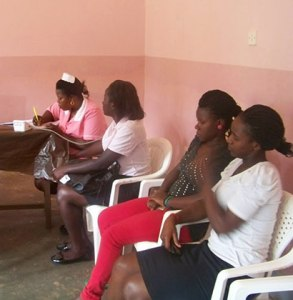 Nkumba-students-que-up-for-cervical-cancer-testing