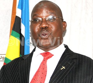 Ethics and integrity state minister Fr. Simon Lokodo.