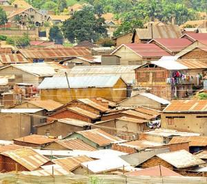 Naguru one of Kampalas slums.