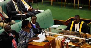 State minister for primary Health care Sarah Opendi reacting to the debate on the tobacco control bill on Friday