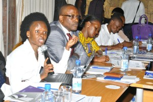 A cross-section of human rights activists during the release of survey of women prisoners in Uganda